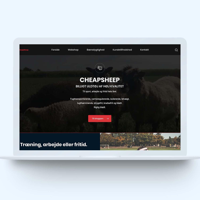 Brugervenlig hjemmeside og webshop for cheapsheep.dk