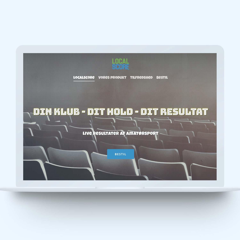 Screenshot af shop hos Localscore lavet af onlineeftersyn.dk